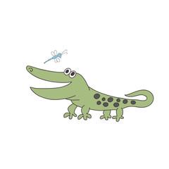 Cute print with crocodile