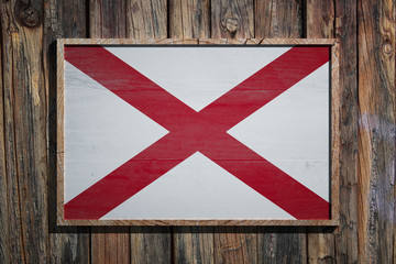 Wooden Alabama flag