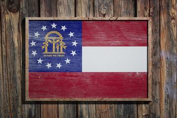 Wooden Georgia flag