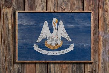 Wooden Louisiana flag
