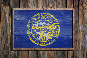 Wooden Nebraska flag