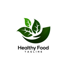 Healthy food logo design vectors