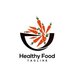 Healthy food logo design vectors