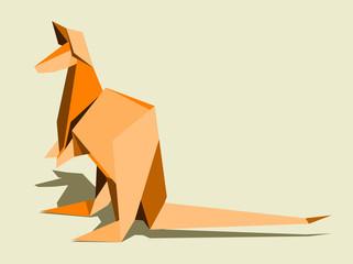 kangaroo, simple abstract image