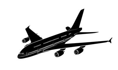 Набросок пассажирского лайнера.