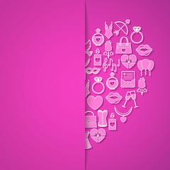 Valentinstag Karte - Herz (Textfreiraum)