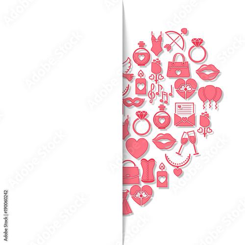 Valentinstag Karte   Herz (Textfreiraum)