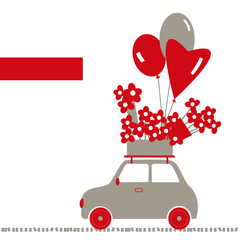 Valentine's Day card.  Vector llustration.