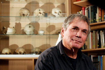 Prof. Israel Hershkovitz of the Departement of Anatomy and Anthropology at Tel Aviv University sits in his office during an interview in Tel Aviv