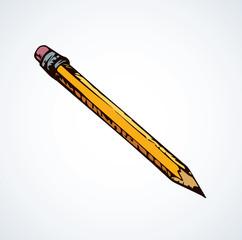Pencil. Vector drawing