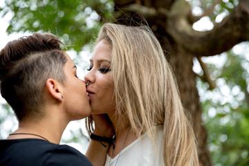 LGBT lesbian women couple moments happiness