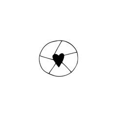 Wedding photography logo element