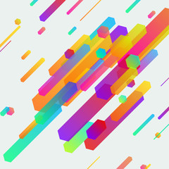 Bright minimalistic contemporary neon lines banner background