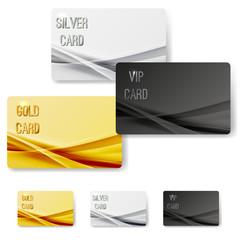 Abstract mild wave pattern vip membership cards collection