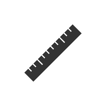 Ruler black icon