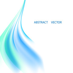 Vector abstract background with soft blue waves. Background for presentation, booklet, leaflet.
