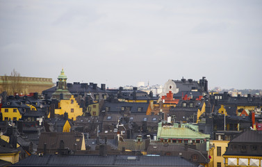 Roofs at old town in Stockholm