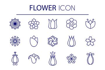 flower lineart set