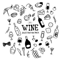 Wine Illustration Pack