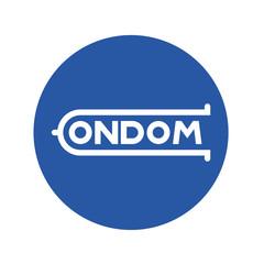 Logotipo CONDOM en circulo azul