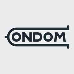 Logotipo CONDOM en fondo gris