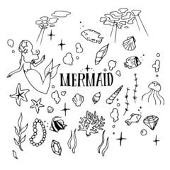 Mermaid Illustration Pack