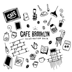 Cafe Brooklyn Illustration Pack