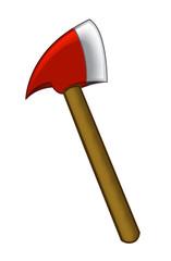 cartoon fireman axe - white background - illustration for children