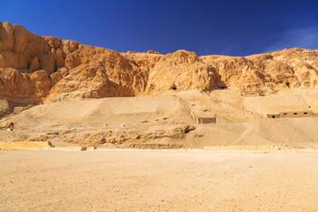 Complex of mortuary temples of Deir el-Bahari near Luxor, Egypt