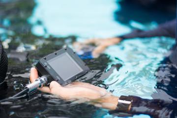 digital moniter gas in scuba diver