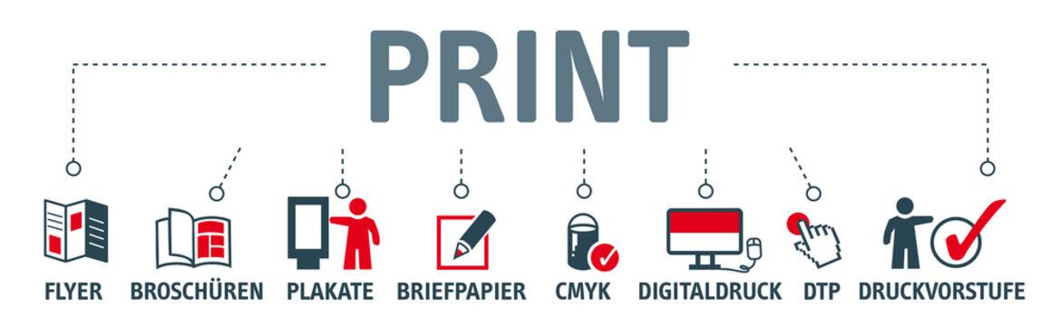 Banner Print Konzept
