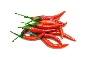 Chili in white background