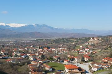 Panorama of Kalambaka in Meteora region, Greece
