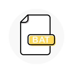 BAT file format, extension color line icon