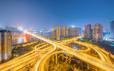 Fotomurales - Ring-shaped overpass in Chongqing, China