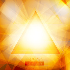 Yellow abstract triangles