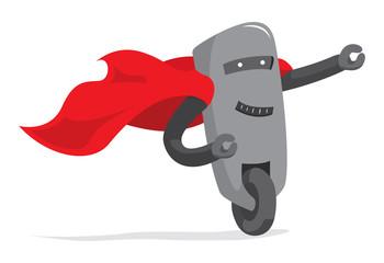 Super robot hero saving the day