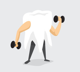 Strong tooth working out