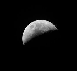 photo de la lune (dernier quartier)