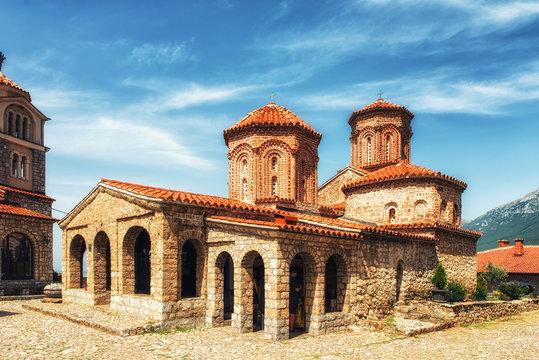 Macedonia, Lake Ohrid, Orthodox Monastery of St Naum (10th Century)