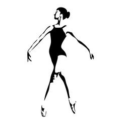 dance club logo,Ballerina in dance logo. Perfect for ballet school or studio, dance studio, performance, banner, poster. Ballet dance pose logo