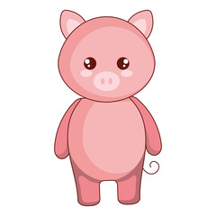 cute and tender pig character