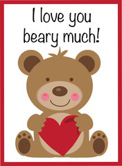 I Love You Beary Much Valentine