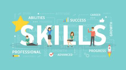 Skills concept illustration.