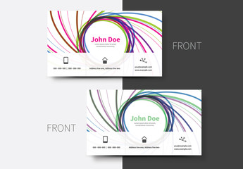 Multicolored Spiral Business Card Layout
