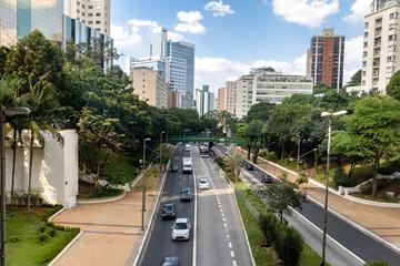 9 de Julho Avenue View - Sao Paulo, Brazil
