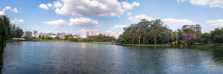 Panoramic view of Ibirapuera Park Lake - Sao Paulo, Brazil