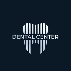 Dental center, dentist vector logo