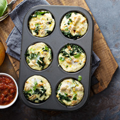 High protein egg muffins with kale