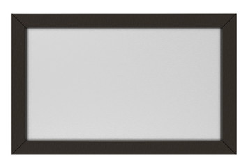 3d rendering. Black wooden frame picture isolated on white background with clipping path.